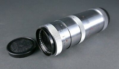 Vintage German CARL ZEISS JENA Triotar 1:4 f=13.5cm 135mm Slim Camera Lens