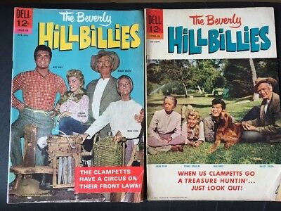 Vintage Dell Comics Movie Classics Lot Of 2 Beverly Hillbillies 1964 & 1965