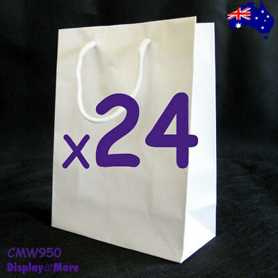Reliable 24X Paper Gift Bag with Handle-15x20cm-White | AUSSIE Seller