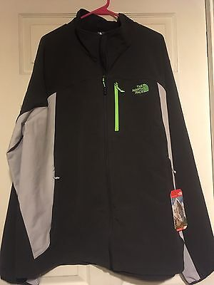 NWT-The North Face Men's Apex Pneumatic Full Zip Jacket Size XXL-Gray/Off White