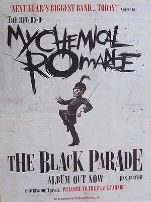 MY CHEMICAL ROMANCE 2006 poster type Advert THE BLACK PARADE
