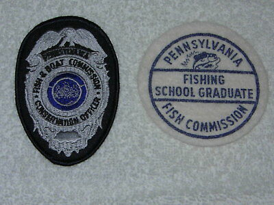 Pa Pennsylvania Fish Commission patch and cloth badge vintage RARE