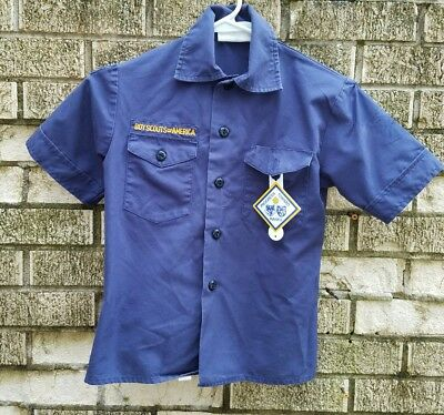 BOY SCOUTS BSA Boys Size S Cub Scout S/S Uniform Top