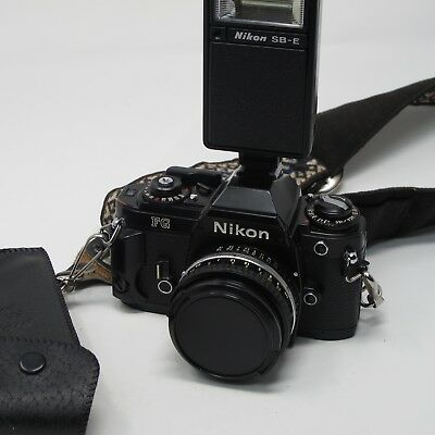 Nikon FG Body with 50mm f 1.8 Series E Lens, Nikon flash, Tested and Working