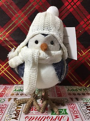 Target Wondershop White Christmas Winter Holiday Bird CLIPPER New NWT