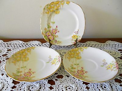 Colclough Side Plate & 2 X Saucers Pattern No. 6591 England Bone China
