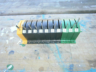 Hornby point switches R44 onoff R047 & onon R46 bank of   11 switches
