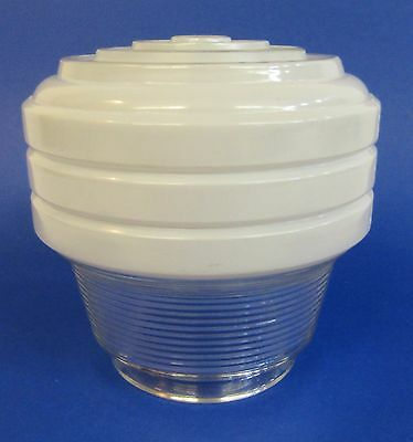 * Vintage * Art Deco * Milk Glass Type Beehive Ceiling Light Globe Or Shade *