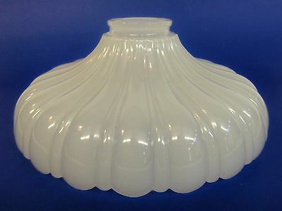 * Vintage * Art Deco * Milk Glass Wide Flower Petal Style * Drop Light Shade *