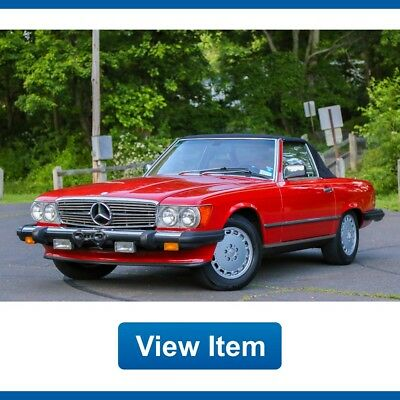 1989 Mercedes-Benz SL-Class  1989 Mercedes Benz 560 SL Convertible Soft Top SERVICED Rear Seat CARFAX!