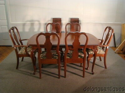 44036A:Solid Cherry Queen Anne Table & 6 Chairs