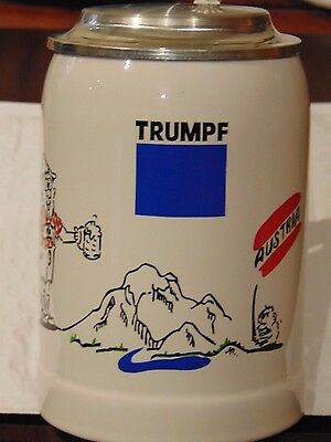 Gerz Lidded Beer Stein for the Thrumpf company of Austria
