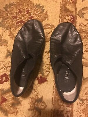 JAZZ GIRLS BLACK DANCE shoes size 6 Preowed