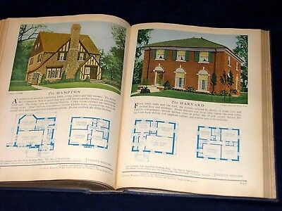 Vintage Home Builders Catalog Dated 1929 w/House Designs Plans Some in Color