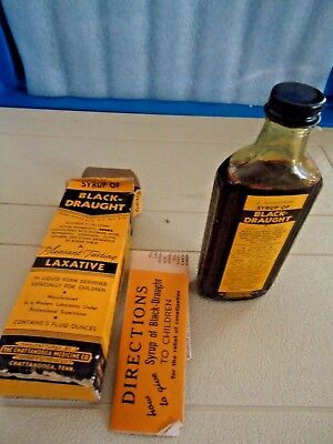Vintage 1950's Black Draught Syrup  ( Unused )