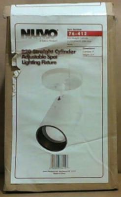 NEW Nuvo Lighting SF76/412 White 1 Light R20 Straight Cylinder Light Fixture $50