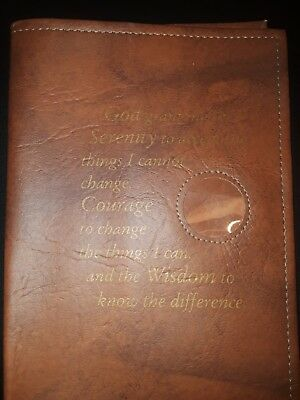 Alcoholics Anonymous AA Big Book Faux Leather Cover & Coin Holder - Culver Ent.