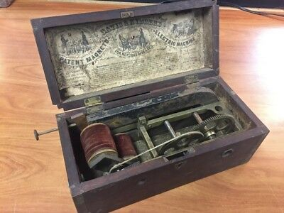 Rare Early Medical Cure-Antique Magneto Manual Crank Electric Quackery Machine!!