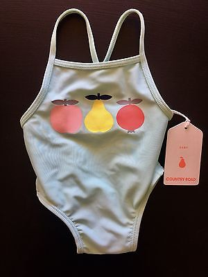 [CR LOVE] SZ '000' 0-3 Months NEW COUNTRY ROAD GIRLS FRUIT BATHERS BABY