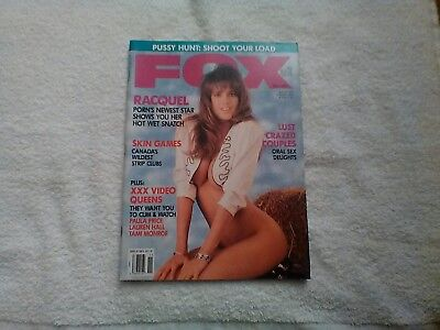 Vintage Adult Men's Magazine Fox with the beautiful Racquel Darrian