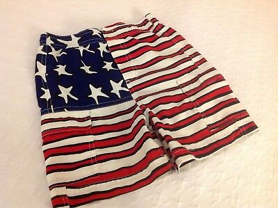 Vintage Stephen Sprouse USA Authentic Red White And Blue Flag ~ 4T ~ EUC
