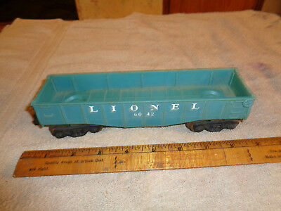 VINTAGE Lionel Train Santa Fe A.T.S.F. Green Gondola Car O Scale 6112-86
