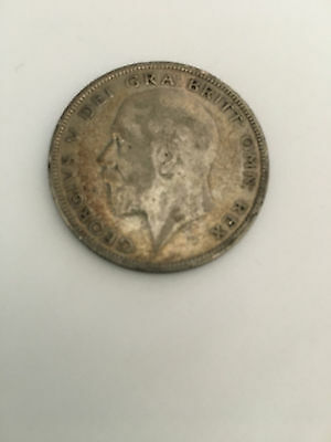1933 King George V Half Crown Coin, Great Britain