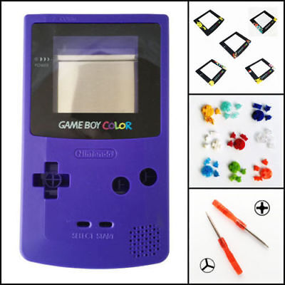 Nintendo Game Boy Color GBC Replacement Housing Shell Screen Grape BUTTONS!