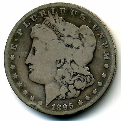 1895 S VG $1 Morgan 90% Silver Dollar Circulated KEY DATE US Very Good Coin#3494