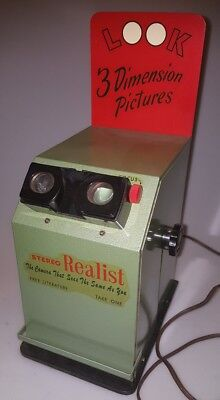 Stereo Realist - Ultra Rare Store Slide Display 3D Camera Viewer MCM