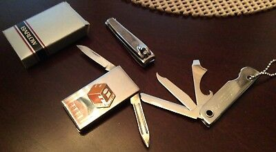 Vintage Hardee's Franchise Enterprises utility knife, fingernail clippers and mo