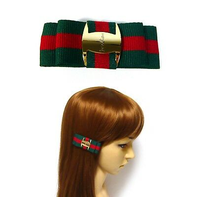Lots 10~30PCS Wholesale Green-Red-Green Web Double Bow Alligator Hair Clip Clamp