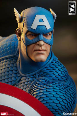 Sideshow Collectibles Marvel Avengers Assemble Captain America Exclusive Statue