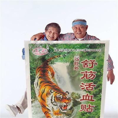 20 pcs Pack Tiger Balm 7X10cm Patch Massage Plaster Warm Medicated Pain Relief