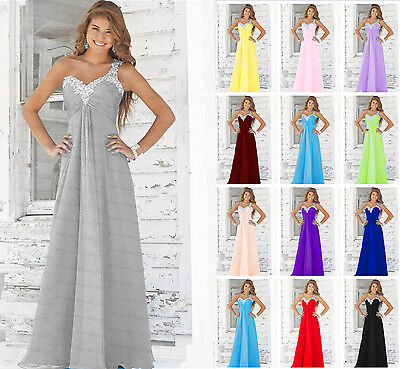 Long Formal Chiffon prom Evening Party Ball Gown Bridesmaid Dress Size 6-20