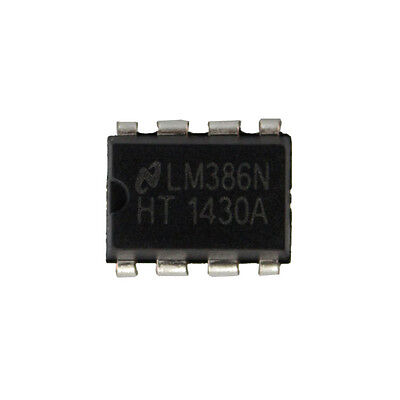 10PCS LM386 LM386N DIP-8 Audio Power AMPLIFIER IC Great Qualtiy QW