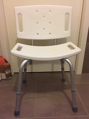 Adjustable Medical Disability Shower Chair  Bath Seat Aid Stool Seating