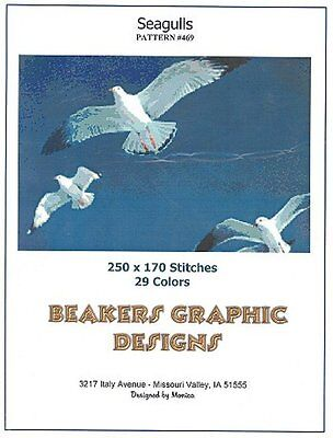 SEAGULLS Counted Cross Stitch detailed #0469
