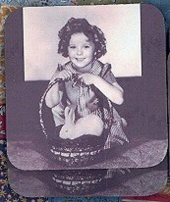 SHIRLEY TEMPLE DOLL Rubber Backed Coasters #0585