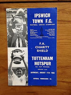 Charity Shield 1962 - Ipswich v Tottenham at Portman Road VERY RARE