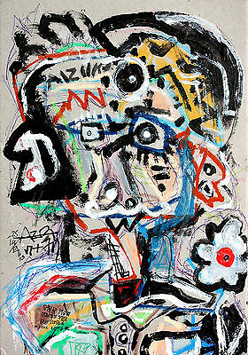 The man from the future - Mista su base multipla - abstract painting dipinto art