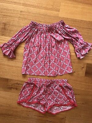 Seed Women's Top Shorts Set Outfit Size S 10 Excellent Condition