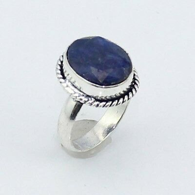 Sapphire Fashion Jewelry  .925 Silver Plated Ring 8 S8122