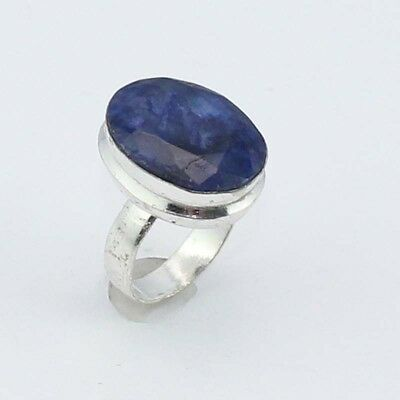Sapphire Fashion Jewelry  .925 Silver Plated Ring 8 S8144