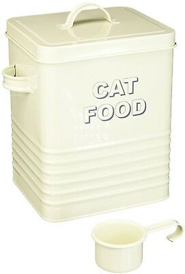 Lesser And Pavey 20cm Home Sweet Home Cat Food Storage Container, Cream