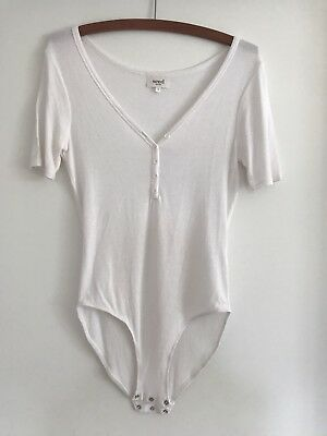 Seed Women's White Bodysuit Top Size S Excellent Condition