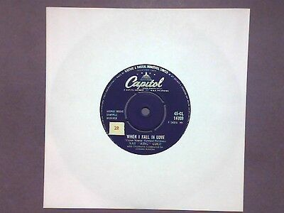 """Nat King Cole - When I Fall In Love (7"""" single) CL 14709"""