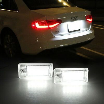 2X 18-LED License Number Plate Light Lamp for Audi A6 C6 S6 A4 S4 B6 B7 A8 S8