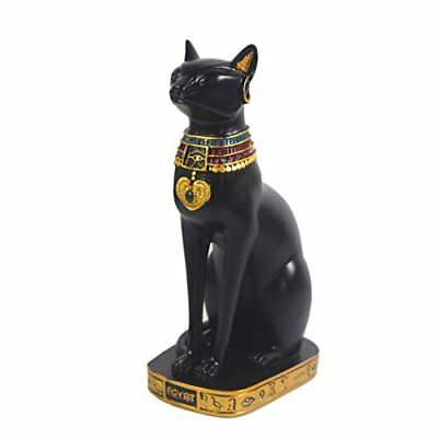 "12"" Ancient Egypt Kitty Egyptian Bastet Cat Goddess Statue Collectible Sculpture"