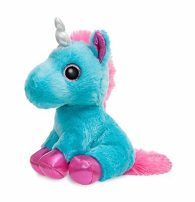 "New Aurora 7"" Sparkle Tales Plush Moonbeam Unicorn Cuddly Soft Toy Teddy"